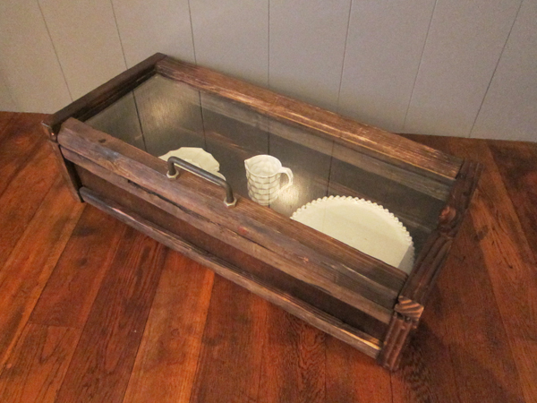 wood display case