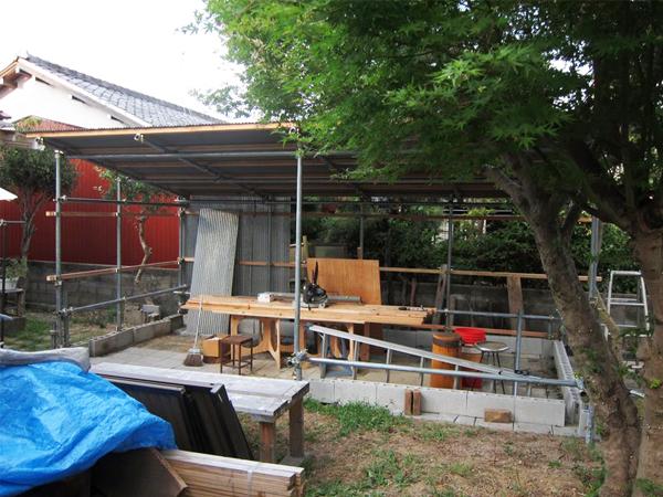 DIYで作業小屋を自作しました!