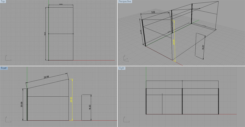 作業小屋 設計図