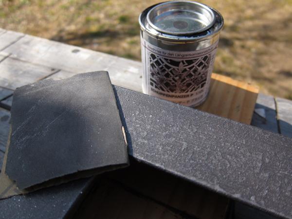 アイアン塗料をテーブルの鉄脚に試用