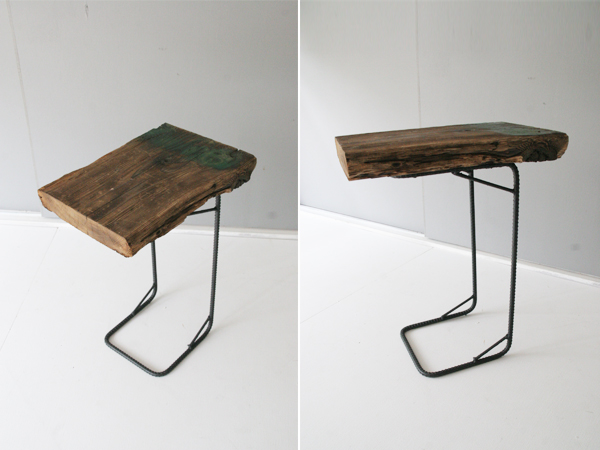 recycle wood side table