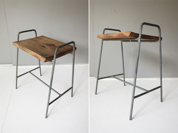 recycle wood stool 1
