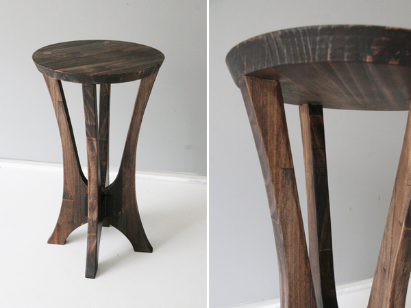 wood stool 2