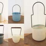 飯高幸作 鉄の持ち手の花器1