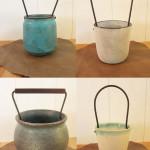 飯高幸作 鉄の持ち手の花器2