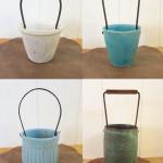 飯高幸作 鉄の持ち手の花器3