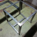 スツールの鉄脚 溶接組立後