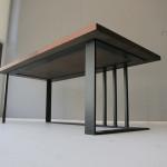 ウォルナットコーヒーテーブルの鉄脚