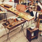アイアと古材のテーブル