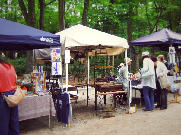森の手作り市 出店の様子