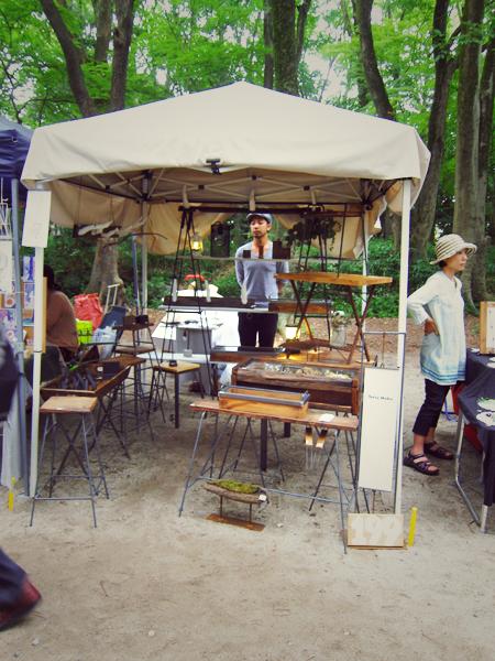 森の手作り市 Tetsu Mokuの出店の様子