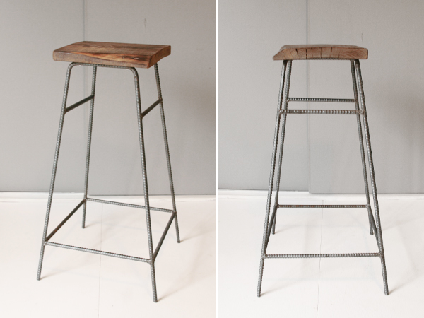 recycle wood high stool