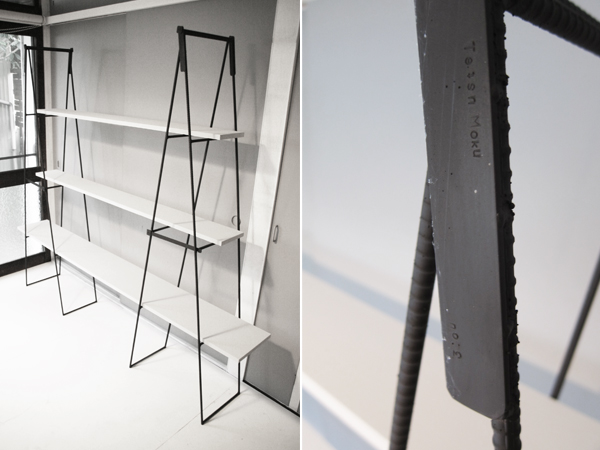 iron ladder shelf