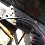 冶具で鉄を曲げる