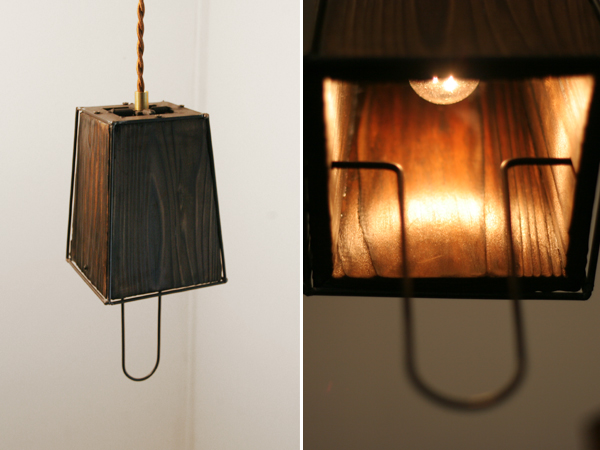 iron frame shade lamp