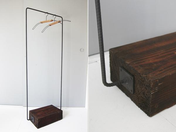 iron frame hanger rack