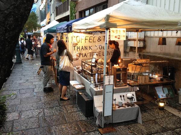 名古屋納屋橋のナイトマーケット