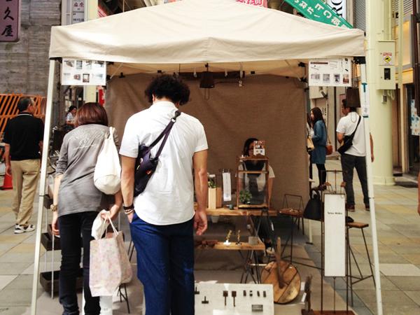 鉄と木の家具 Tetsu Mokuのブース