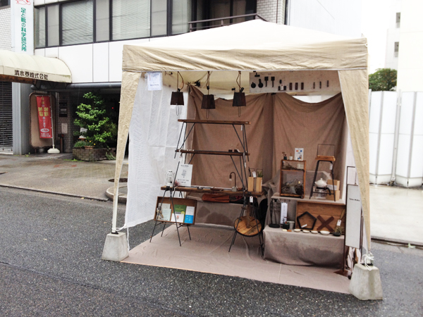 アイアンと木の家具 Tetsu Mokuのブース
