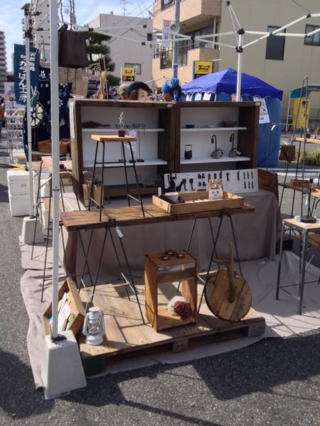 アイアン家具や雑貨のTetsu Moku ブース