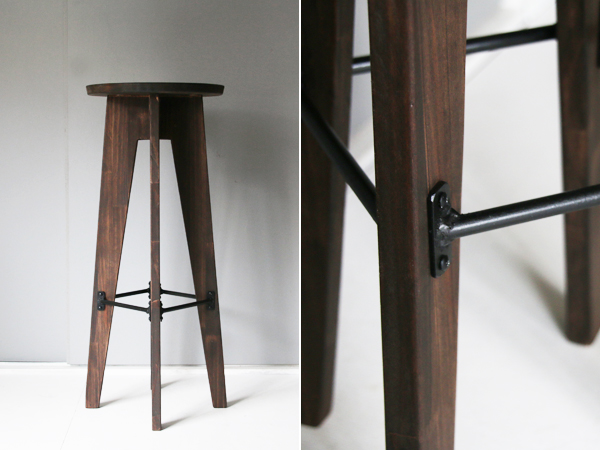 wood high stool