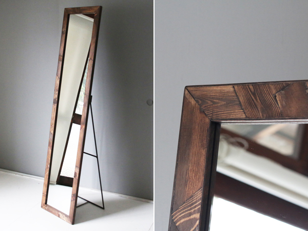 patchwork stand mirror