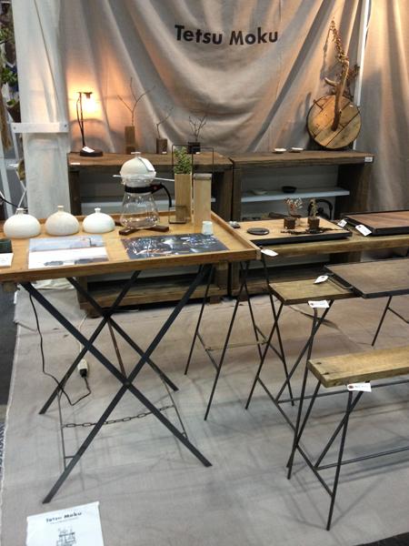 クリエーターズマーケット 鉄脚のテーブルやベンチなどを出品