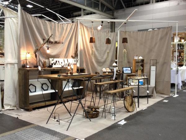 名古屋クリエーターズマーケット 鉄と木の家具 Tetsu Moku ブース