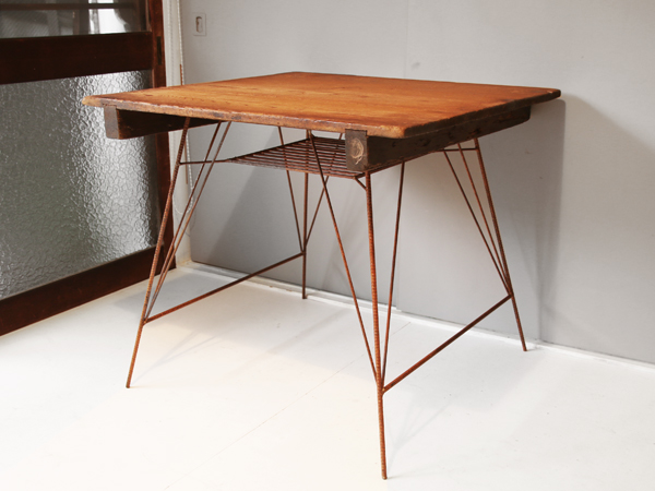 recycle wood dining table 1