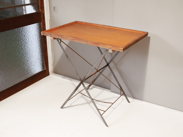 recycle wood folding table 2