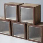 アイアンとガラス蓋のディスプレイボックス タイプ1-5