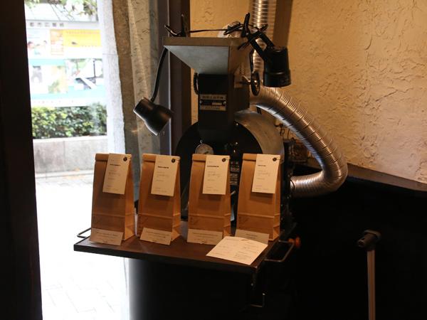 京都四条の自家焙煎コーヒースタンドMonoArt coffee roastersの焙煎機
