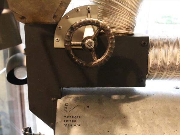 MonoArt coffee roastersの焙煎機 アイアンハンドル