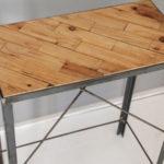 アイアン脚のパッチワークテーブル-5