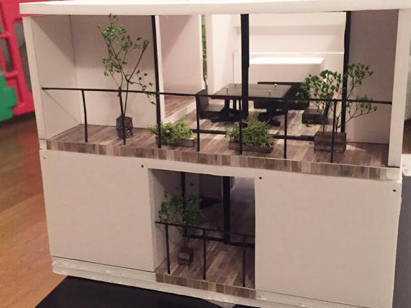 建築模型の外観