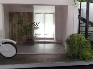 建築模型 玄関の写真