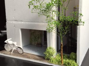 玄関外観の建築模型