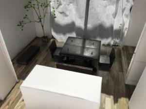 室内の建築模型