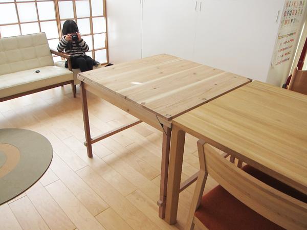 テーブルを延長して設置
