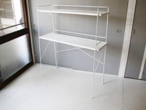 白い折畳みアイアンシェルフ