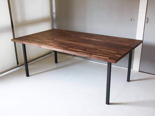 ウォルナット集成材 リビングダイニングテーブル