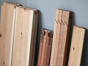 木と鉄の組立式テーブル 分解後