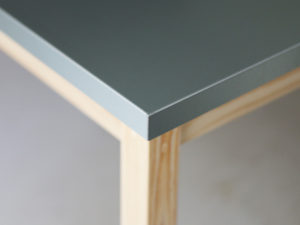 ジンクトップテーブル折り加工