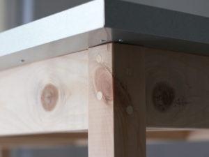 ジンクトップテーブル 天板