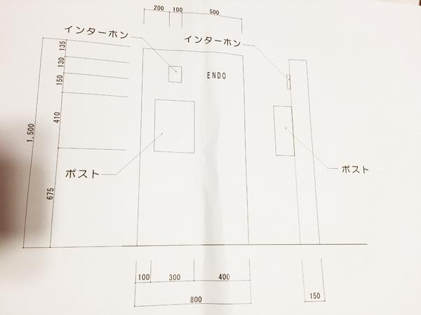門柱の図面