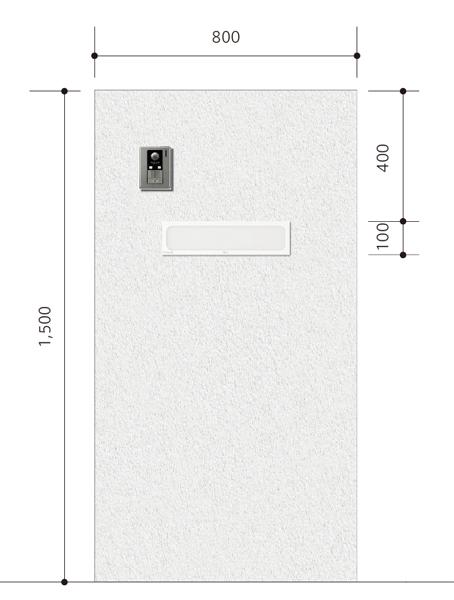 門柱の簡易イメージ図