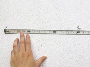 ネジの距離を測って頂いた写真