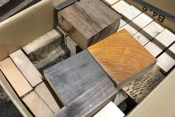 古材のブロック
